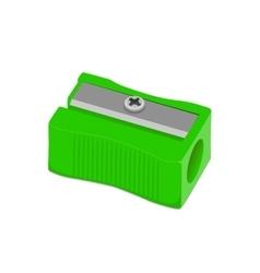 Sharpener pencil green vector