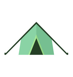 tent icon on white isolated background vector image vector image