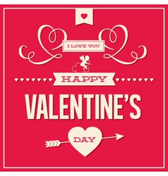Valentines day love card vector