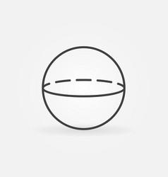 volume sphere icon vector image