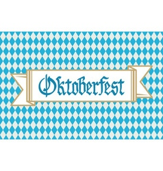 Oktoberfest background with banner and text vector