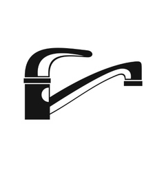 Water tap icon simple style vector image