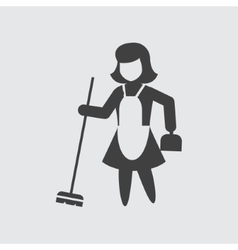 Sweeping maid icon vector image