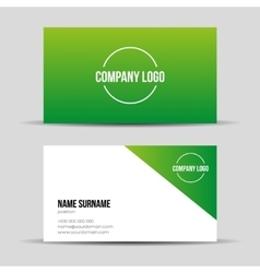 Modern green business card template vector