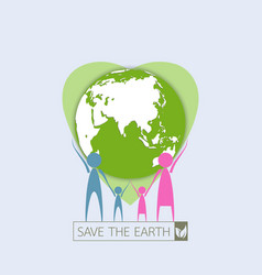 Human family protect the earth vector
