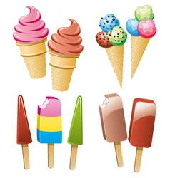 icecream and popsicles vector image