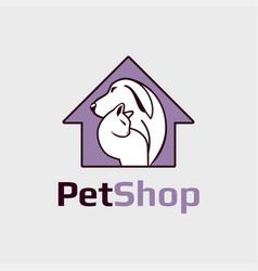 Pet shop clinic vector