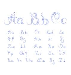 Grunge curl alphabet vector