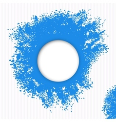 Blue splashes of paint vector