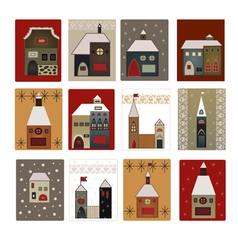 Houses set for scrapbooking vector