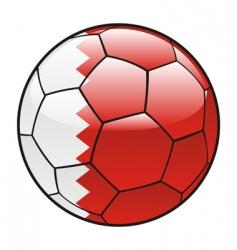 bahrain flag on soccer ball vector image