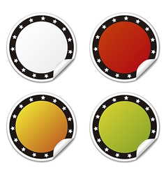 Circle sticker with stars colors vector