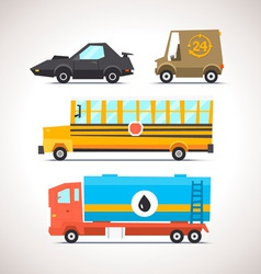 Car Flat Icon Set 6 vector image