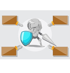 Knight security protect guard safe vector