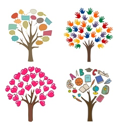 Abstract trees concept vector