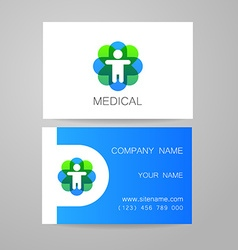Medical card template vector