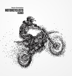 Particles biker full of enterprising across vector