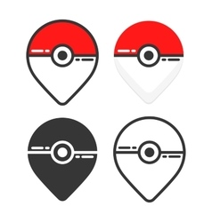 Map pin set flat design Location pointer in vector image
