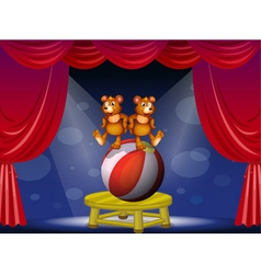 A circus show with two bears vector image