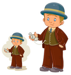A little boy dressed in vector