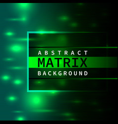 abstract green matrix background vector image vector image