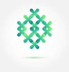 Abstract sybmol in green soft colors made of vector