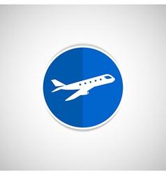 Airplane Plane symbol Travel icon vector image vector image