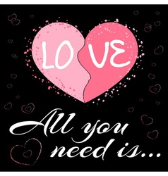 All you need is love black2 vector