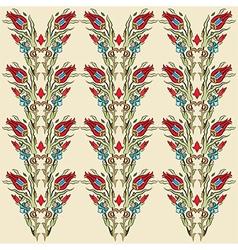 Antique ottoman turkish pattern design fourteen vector