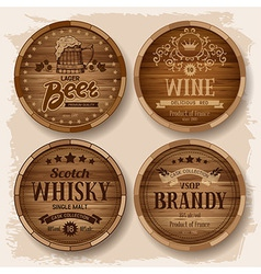 Barrel label vector image vector image