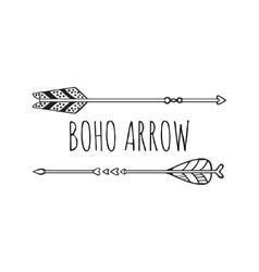 Boho logo card vector