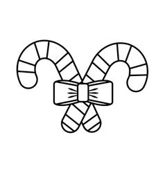 christmas cane decorative icon vector image