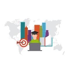 distance education design vector image