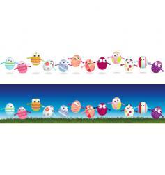 egg strips vector image vector image