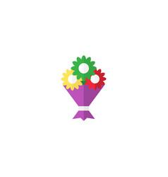 Flat bouquet element of flat vector