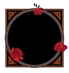 Frame with roses vector