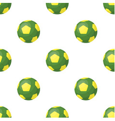 Green soccer ball icon in cartoon style isolated vector