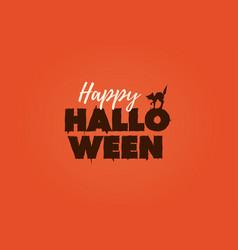 Happy halloween text logo vector