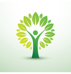human tree vector image