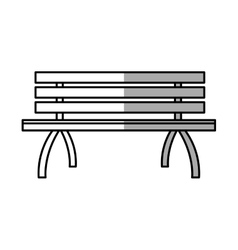 Isolated bench of park design vector