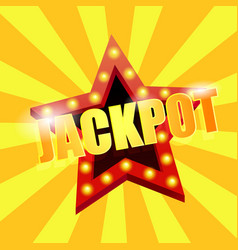 jackpot is a star great win in the casino vector image