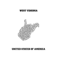 Label with map of west virginia vector