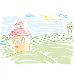 landscape paints vector image