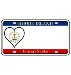 Rhode island state license plate vector