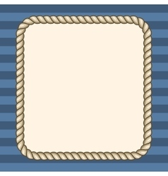 Rope frame over striped background vector