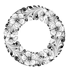 Sakura frame vector image vector image