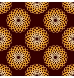 Seamless gold floral mandala pattern vector
