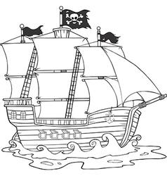 Ship cartoon vector