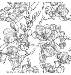 Spring freesias sketch vector