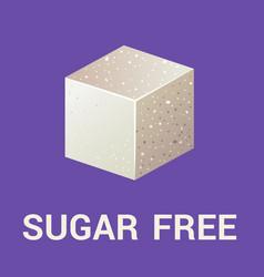 sugar free icon flat vector image vector image